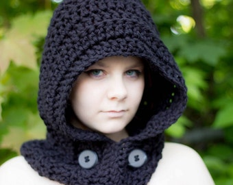 SALE---  Crochet Hooded Scarf