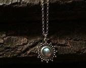 Siya- labradorite necklace, silver labradorite necklace, labradorite pendant, tribal necklace, antique necklace, labradorite choker