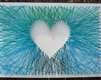 Mini Heart Strings Wool Wall Art