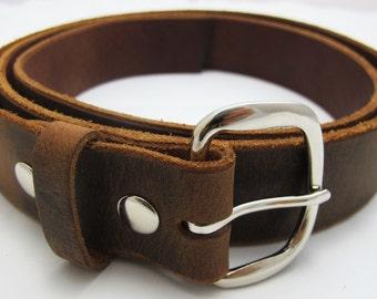 Crazy Horse Belt, Buffalo Leather Belt, Handmade Belt,