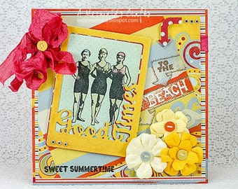 Handmade Summer Greeting Card
