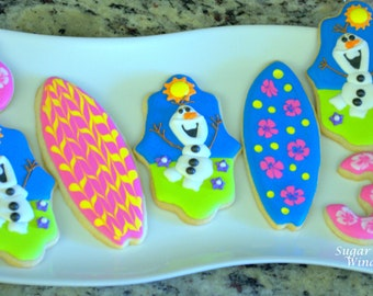 Olaf Summer Cookies