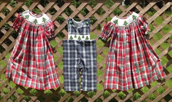 Infant Smocked Christmas Dress