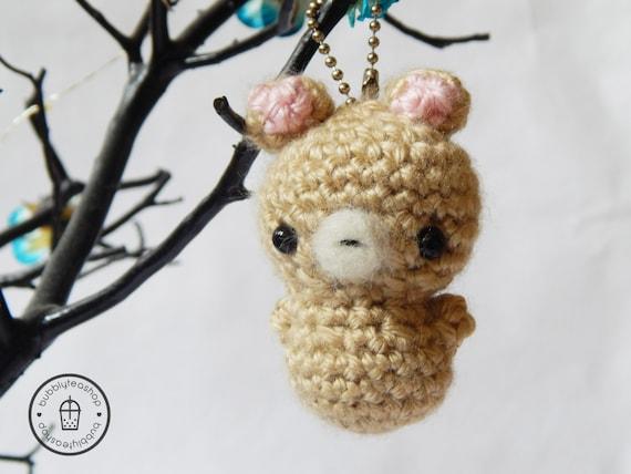 Mini Bear Amigurumi Keychain Little Bear Bear by BubblyTeaShop