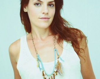 Pale Blue Huntress Necklace