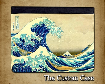 The Great Wave Ipad Case, The wave by Hokusai Leather Ipad Case, Folio Style Ipad Case, Ipad 2/3/4 Case, Ipad Air Case, Ipad Mini Case