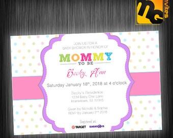Baby girl baby shower invite
