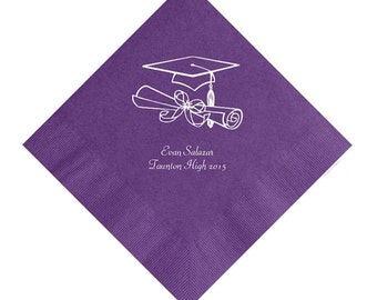 Personalized Graduation Napkin Set of 100 Napkins