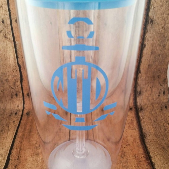 Monogrammed Wine To Go Cup Wine Tumbler Acrylic By