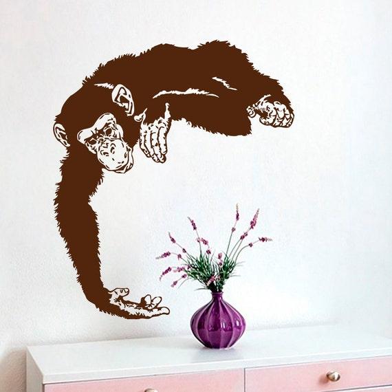 monkey wall decals chimpanzee vinyl decal sticker home interior design