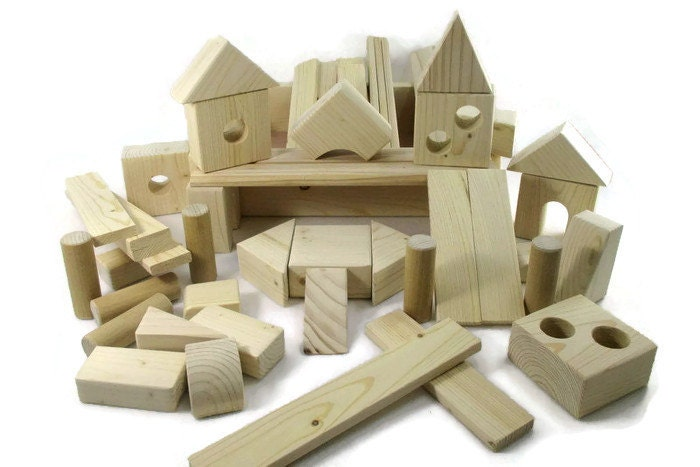 Wooden Blocks For Toddlers ~ Wooden building block toys for children