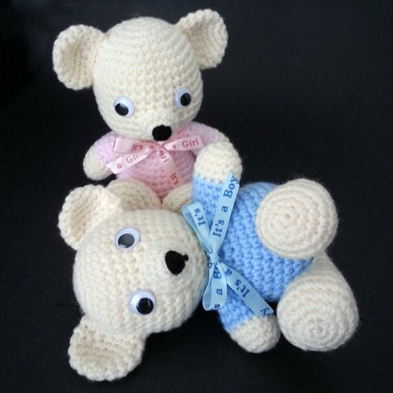 Amigurumi Little Teddy Bear : Teddy Bear. Amigurumi. Crochet teddy bear. Baby by LilCuddles