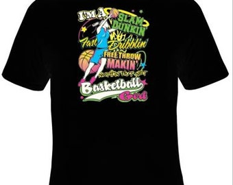 Girls basketball t shirt,basketball items,basketball shirts,shirts for teens,sports shirts,teen gifts,basketball gifts,basketball girl,kids