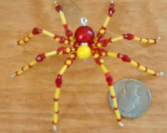 Red & Yellow Bead Spider