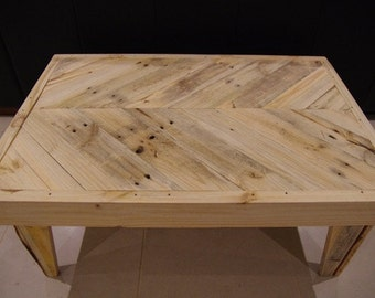 Pallet Coffee Table, Reclaimed Wood Coffee Table, Chevron Coffee Table