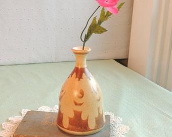 Vintage Earthenware Bud Vase