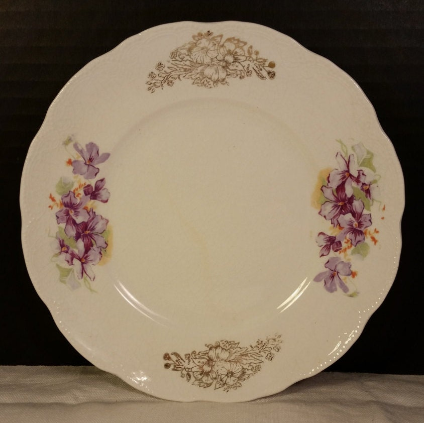 Knowles Taylor 4 Dessert Plates Semi-Vitreous Porcelain Vintage K T u0026 K Co Pie Plates & Knowles Taylor 4 Dessert Plates Semi-Vitreous Porcelain Vintage K T ...