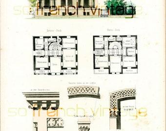 1854 maison foresti re plans d 39 architecte par sofrenchvintage. Black Bedroom Furniture Sets. Home Design Ideas