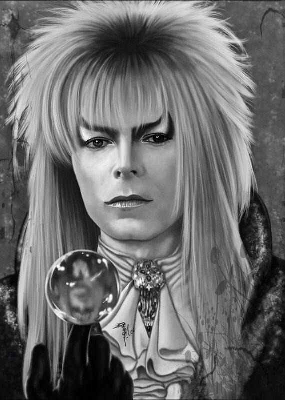 King David Drawing David Bowie as The Goblin King
