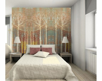 Autumn forest, adhesive wall decor