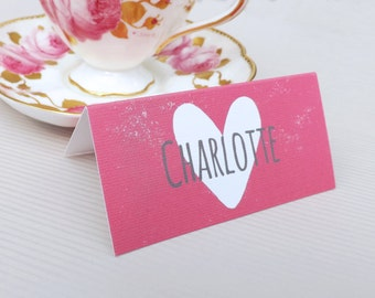 Personalised Simply Love Wedding Place Name Cards