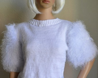 Hand knitted women sweater
