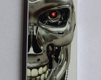 Custom Printed The Terminator Robot skull Geekery Apple iphone 4 4s 5 5s 5c 6 6 plus case cover