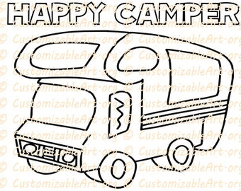 happy camper coloring pages - photo#15