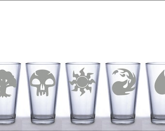 Magic the Gathering Mana Symbols Pint Glasses - Choice of 1