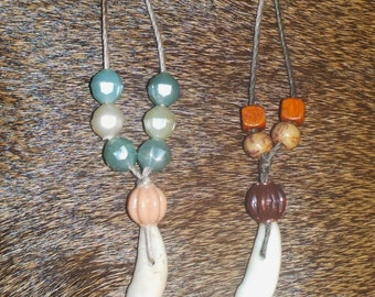 Natural Coyote tooth necklaces