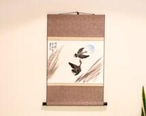 einzigartige artikel zum thema asiatische schriftrollen etsy. Black Bedroom Furniture Sets. Home Design Ideas