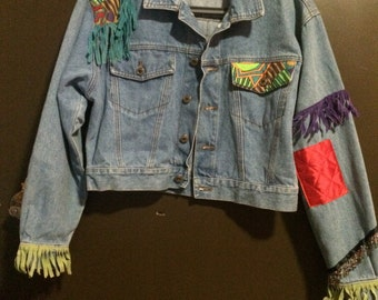 Vintage women's custom denim jacket