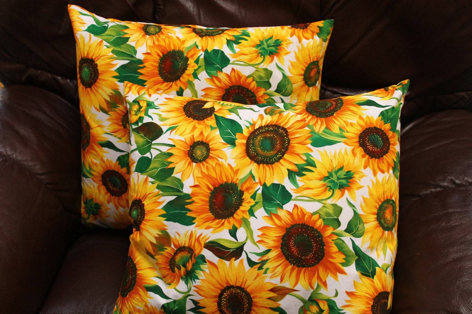 Decorative Pillows With Sunflowers : Fall Pillow Cover Sunflowers Home Decor Throw Pillows