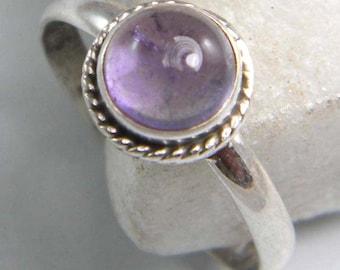Amethyst ring, Silver Amethyst stone ring , Sterling silver overlay amethyst ring, Gemstone ring Size 5 5.5 6 6.5 7 7.5 8 , ring-0314140616
