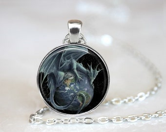 Dragon Pendant Necklace Handcrafted Made to Order One Inch Pendant