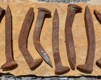 Renegade Spikes -- Crooked Vintage Railroad Spikes -- Set of 20 from SW Colorado