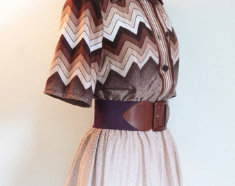 70s Zig Zag dress