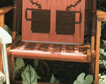Vintage Macrame Cording Lawn Chair Folding Chair Pattern 1970s Coffee Break PDF Instant Download