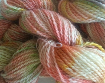 Hand-Dyed 100% Baby Llama Yarn, Aran weight, 105 yds, 2-ply, Popsicles