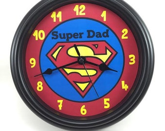 Superman or SUPER PERSON Wall Clock