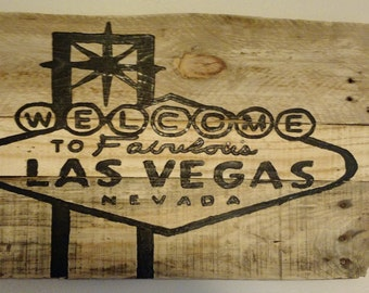 Reclaimed Wood Las Vegas Sign