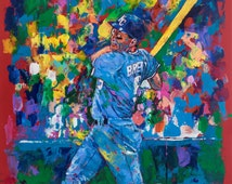 70% SALE - George Brett Fine-Art Canvas Print From An Original Hand-Painted (Not Computer) Artwork & 1 Print by Artist to Stars, Winford