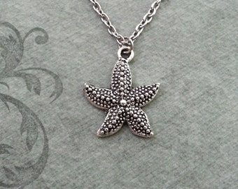 Starfish Necklace SMALL Silver Starfish Jewelry Nautical Jewelry Beach Jewelry Sea Necklace Ocean Necklace Bridesmaid Necklace Starfish Gift
