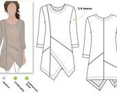 Lani Woven Tunic - Sizes 8, 10, 12 - Women's Top PDF Sewing Pattern by Style Arc - Sewing Project - Digital Pattern