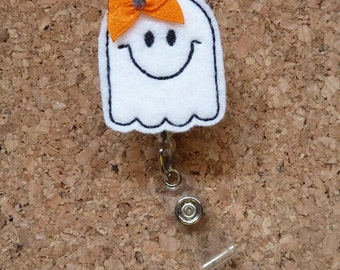 Ghost Badge Reel | Ghost  Halloween Badge Reel | Halloween  | Id Badge Reel |   125