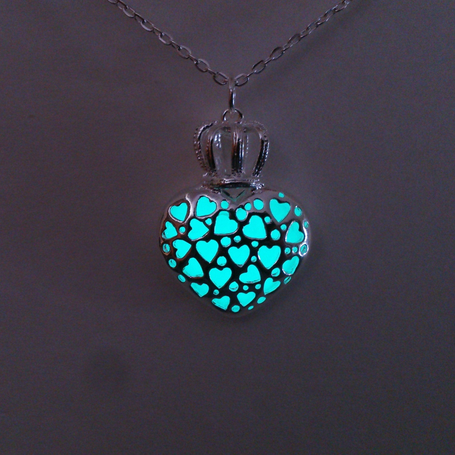 aqua glowing necklace glowing jewelry glow in the