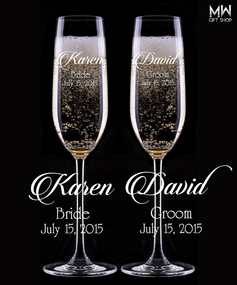 personalized champagne glasses engraved champagne flutes. Black Bedroom Furniture Sets. Home Design Ideas