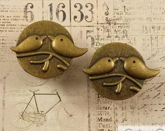 "Plugs Gauges - Bronze Lovebird Plugs - 00ga (10mm), 7/16"" (11mm), 1/2"" (12mm), 9/16"" (14mm), 5/8"" (16mm), 3/4"" (19mm), 7/8"" (22mm)"