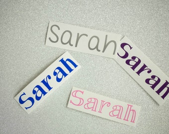 Personalized Name Sticker ~ Name Decal ~ Back to School ~ Notebook Decal