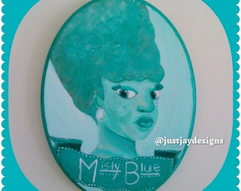 Painted Wall Plaque- Misty Blue